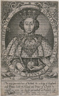 King Richard II, by Renold or Reginold Elstrack (Elstracke), after  Unknown artist - NPG D9387
