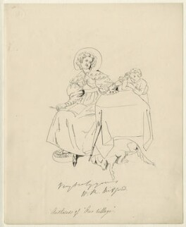 Mary Russell Mitford, after Daniel Maclise - NPG D34532