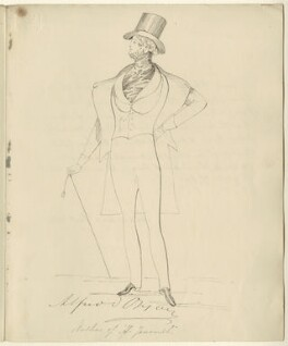 Alfred, Count D'Orsay, after Daniel Maclise - NPG D34538