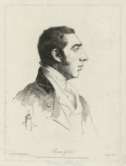 Thomas Girtin, by and published by William Daniell, after  George Dance - NPG D34508