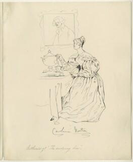 Caroline Elizabeth Sarah Norton (née Sheridan, later Lady Stirling-Maxwell), after Daniel Maclise - NPG D34541