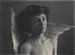 Leopold Hamilton Myers as 'The Compassionate Cherub', by Eveleen Myers (née Tennant), 1880s - NPG Ax68403 - © National Portrait Gallery, London