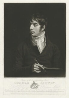 Thomas Girtin, by Samuel William Reynolds, published by  John Girtin, after  John Opie - NPG D34510