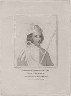 Edward, Prince of Wales, by Silvester (Sylvester) Harding, published by  E. & S. Harding, after  Unknown artist - NPG D9390