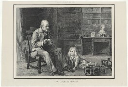 Mr Gladstone and his grandson, Deiniol Gladstone, in the library of The Rectory, Hawarden, after Sydney Prior Hall - NPG D34517