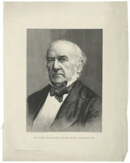 William Ewart Gladstone, by Hans Christian Olsen, after  London Stereoscopic & Photographic Company - NPG D34519