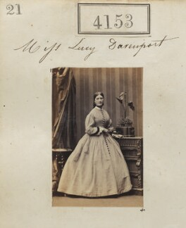 Probably Charlotte Lucy Arkwright (née Davenport), by Camille Silvy, 4 June 1861 - NPG Ax54168 - © National Portrait Gallery, London