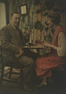 Katharine Legat (née Edis); Sir Eric Campbell Geddes, by (Mary) Olive Edis (Mrs Galsworthy), 1920s - NPG x132476 - © National Portrait Gallery, London