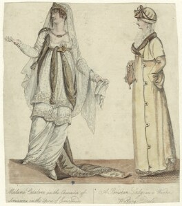 Angelica Catalani as Semiramis in 'Semiramide'; A Parisian Lady in a Winter Walking Dress, after Unknown artist - NPG D34580