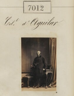 Sir Charles Lawrence D'Aguilar, by Camille Silvy - NPG Ax56928