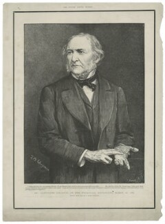 William Ewart Gladstone ('Mr. Gladstone speaking on the Transvaal difficulty, March 16, 1883'), by Charles Roberts, after  Theodore Blake Wirgman - NPG D34526