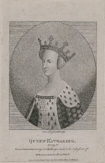 Probably Catherine of Valois, by Silvester (Sylvester) Harding, published by  E. & S. Harding, after  Unknown artist - NPG D9396