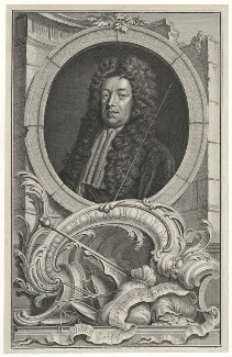 Sidney Godolphin, 1st Earl of Godolphin, by Jacobus Houbraken, published by  John & Paul Knapton, after  Sir Godfrey Kneller, Bt - NPG D34582