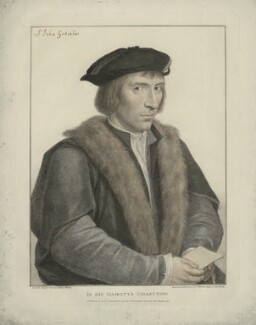 Sir John Godsalve, by Francesco Bartolozzi, published by  John Chamberlaine, after  Hans Holbein the Younger - NPG D34583