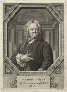James Gibbs, by Bernard Baron, after  William Hogarth - NPG D34496