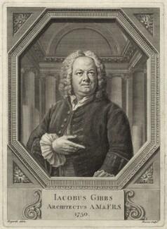 James Gibbs, by Bernard Baron, after  William Hogarth, 1750 - NPG D34496 - © National Portrait Gallery, London