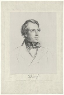 George Godwin, by Edward Morton, printed by  M & N Hanhart, published by  Paul and Dominic Colnaghi & Co, after  Samuel Laurence - NPG D34586