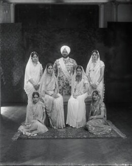 Sir Bhupindra Singh, Maharaja of Patiala with members of his family, by Vandyk, 24 January 1931 - NPG x130952 - © National Portrait Gallery, London