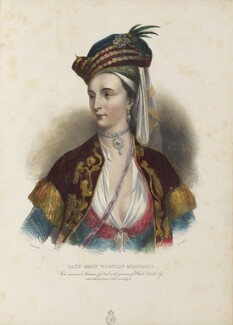 Lady Mary Wortley Montagu, by Achille Devéria, printed by  François Le Villain, published by  Edward Bull, published by  Edward Churton, after  Christian Friedrich Zincke - NPG D34619