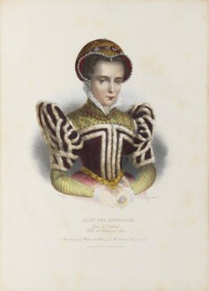 Queen Mary I, by Émile Desmaisons, printed by  François Le Villain, published by  Edward Bull, published by  Edward Churton, after  Unknown artist - NPG D34627