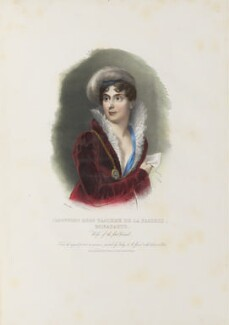 Joséphine Bonaparte (née Marie Josèphe Rose Tascher de la Pagerie, formerly de Beauharnais), by Achille Devéria, printed by  François Le Villain, published by  Edward Bull, published by  Edward Churton, after  Jean Baptiste Isabey - NPG D34629