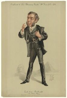 George Joachim Goschen, 1st Viscount Goschen ['Quick return - Small profit (The Sphinx Riddle)], by 'Pet', printed by  Stevens & Co - NPG D34609