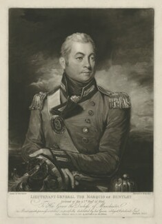 George Gordon, 5th Duke of Gordon when Marquis of Huntley, by Henry Meyer, published by  Robert Cribb & Son, after  John Jackson, published 12 March 1812 - NPG D34636 - © National Portrait Gallery, London