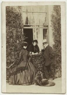 Wilhelmina Ingilby; Elizabeth (née Macdowall), Lady Ingilby; Sir Henry John Ingilby, 1st Bt, by Thomas & James Holroyd, mid 1860s - NPG x12123 - © National Portrait Gallery, London