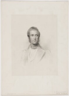 James Andrew Broun Ramsay, 1st Marquess of Dalhousie, by John Henry Robinson, published by  Joseph Hogarth, after  George Richmond - NPG D34664