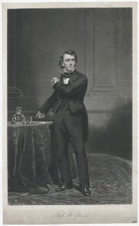 John Bartholomew Gough, by Edward Burton, printed by  Macglashan (Macglashon) & Wilding, published by  Scottish Temperance League, after  Sir Daniel Macnee - NPG D34649