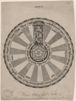King Arthur's Round Table; Preserved as a Curious Piece of Antiquity in the Castle of Winchester, by J. Pass, after  James Cave - NPG D9402