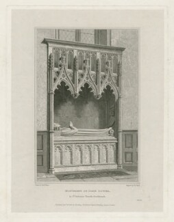 John Gower ('Monument of John Gower, in St. Saviours Church, Southwark'), by John Henry Le Keux, published by  Harding, Triphook & Lepard, after  Edward Blore - NPG D34654