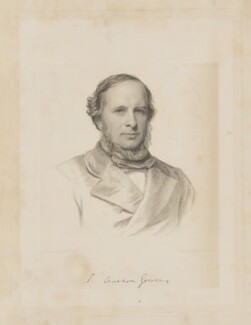 Hon. (Edward) Frederick Leveson-Gower, by Charles Holl, by  A. Roberts, after  Henry Tanworth Wells - NPG D34658