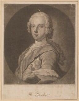 Prince Charles Edward Stuart, probably after Sir Robert Strange, (1745) - NPG D34706 - © National Portrait Gallery, London