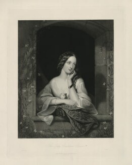 Lady Constance Gower, by William Henry Mote, printed by  McQueen (Macqueen), published by  David Bogue, after  Richard Buckner - NPG D34660