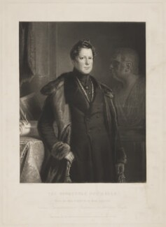 Fox Maule-Ramsay, 2nd Baron Panmure and 11th Earl of Dalhousie, by John Porter, published by  Hodgson & Graves, after  Thomas Duncan - NPG D34666
