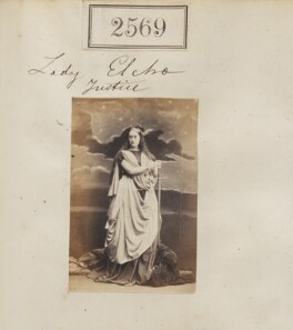 Anne Frederica (née Anson), Countess of Wemyss as 'Justice', by Camille Silvy - NPG Ax51958