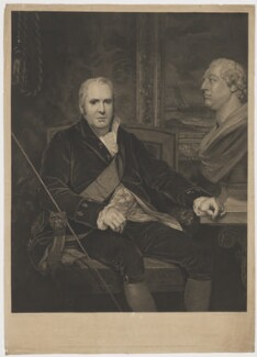George Legge, 3rd Earl of Dartmouth, by and published by Charles Theodosius Heath, and published by  Josiah Boydell, and published by  Colnaghi & Co, after  Thomas Phillips - NPG D34685
