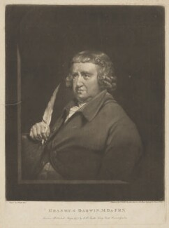 Erasmus Darwin, by and published by John Raphael Smith, after  Joseph Wright, published 1 May 1797 - NPG D34686 - © National Portrait Gallery, London