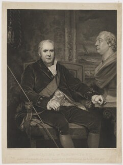George Legge, 3rd Earl of Dartmouth, by and published by Charles Theodosius Heath, and published by  Josiah Boydell, and published by  Colnaghi & Co, after  Thomas Phillips - NPG D34690