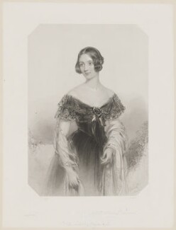 Frances (née Barrington), Countess of Dartmouth, by and published by Francis Holl, after  John Hayter - NPG D34691