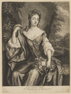 Madam D'Avenant, by and published by John Smith, after  Sir Godfrey Kneller, Bt, 1689 - NPG D34693 - © National Portrait Gallery, London
