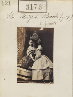 Miss Booth; Miss Booth, by Camille Silvy - NPG Ax52573