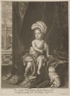 William, Duke of Gloucester, by and published by Pieter Schenck, after  Sir Godfrey Kneller, Bt - NPG D34712