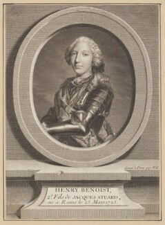 Henry Benedict Maria Clement Stuart, Cardinal York, by Johan Georg Wille (Will), after  Unknown artist - NPG D34725