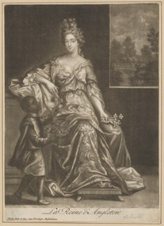 Queen Anne, by and published by Jacob Gole, after  Unknown artist - NPG D34728