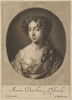 Mary of Modena, by and published by Gerard Valck, after  Sir Peter Lely, circa 1685-1688 - NPG D34729 - © National Portrait Gallery, London