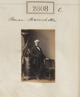 (Pietro) Carlo Giovanni Battista Marochetti, Baron Marochetti, by Camille Silvy, 31 March 1861 - NPG Ax52197 - © National Portrait Gallery, London