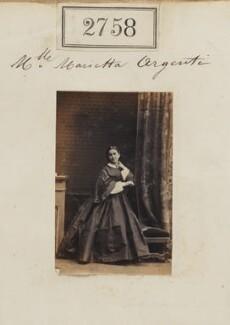 Marietta Sechiari (née Argenti), by Camille Silvy - NPG Ax52147