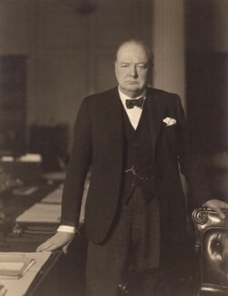 Winston Churchill, by Walter Stoneman, 3pm 1 April 1941 - NPG x6140 - © National Portrait Gallery, London